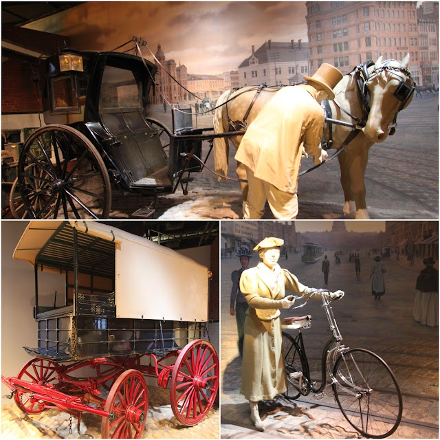 Early days of transportation at National Museum of American History in Washington DC, USA