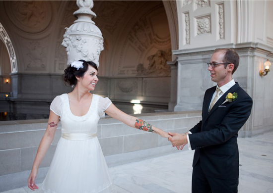 tatuaggi matrimonio, tattooed bride