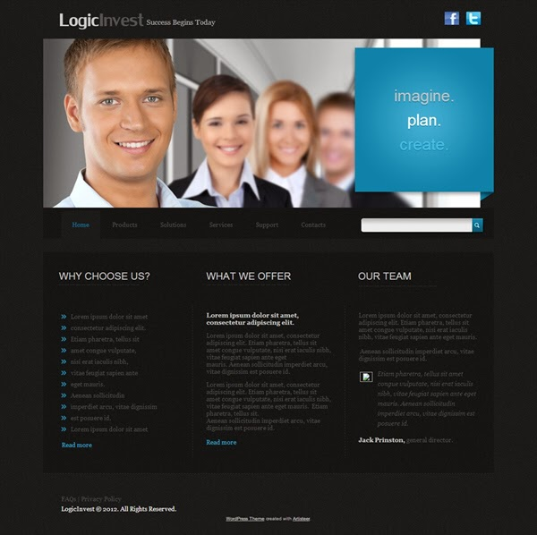 Logicinvest - Free Wordpress Theme