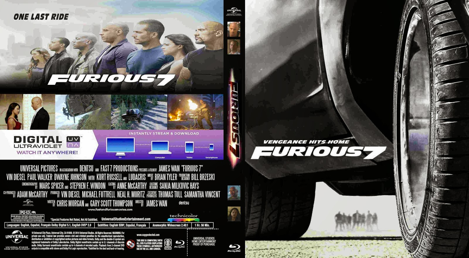 covers movie gtba furious 7 2015 cover blu ray movie. Black Bedroom Furniture Sets. Home Design Ideas