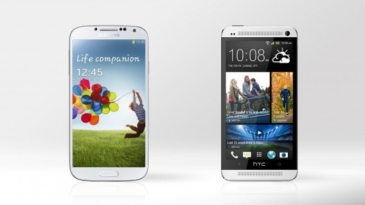 compare galaxy s4 and htc one