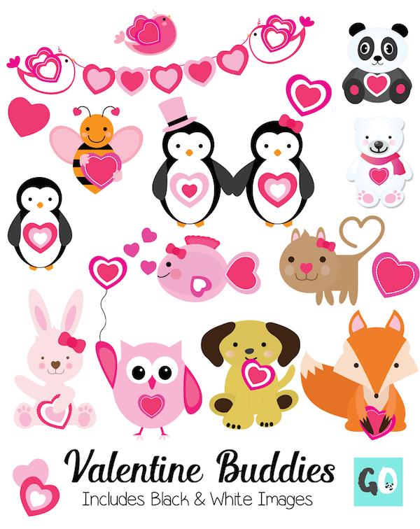 Valentine Buddies clipart by GradeONEderful.com