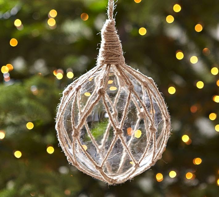 nautical ornament of the week pottery barn - Nautical Christmas Decorations