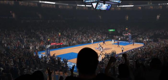 NBA 2K15 'Yakkem' Trailer Gameplay Screenshot - Chesapeake Energy Arena