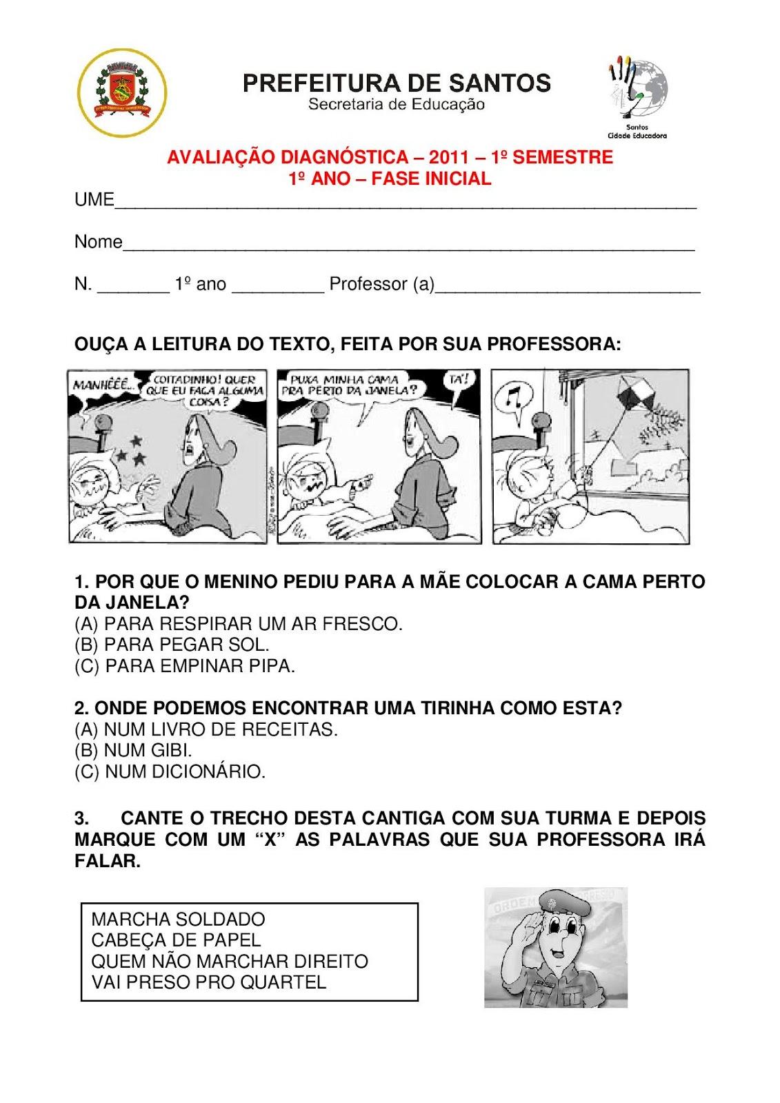 Famosos ESPAÇO EDUCAR: 30 MODELOS DE PROVA PRONTOS PARA ALFABETIZAÇÃO OU  RH77