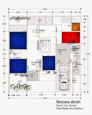 Sketsa Gambar Denah Rumah Minimalis
