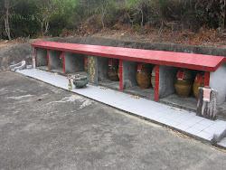 A buddihist grave yard.