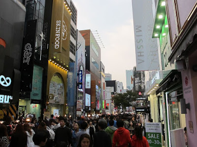 Myeong dong shopping street in Seoul