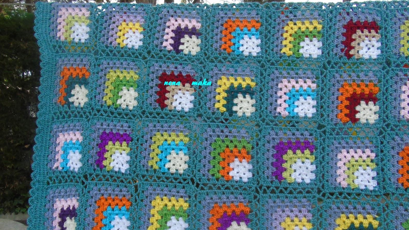 Mis puntaditas escondidas colcha de ganchillo - Mantas de crochet a cuadros ...