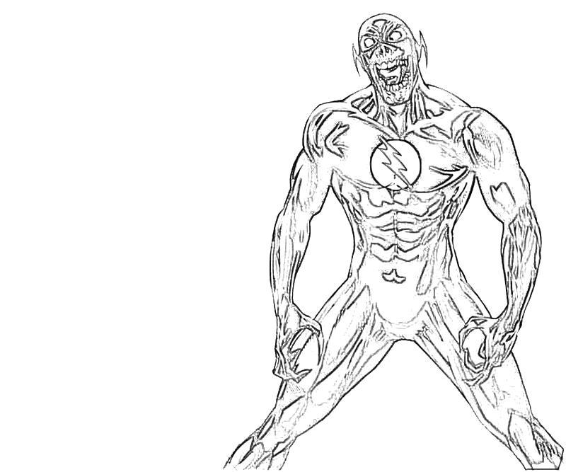 Printable Black Flash Run Coloring Pages