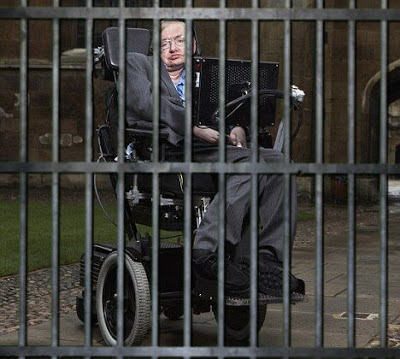 Stephen Hawking behind bars