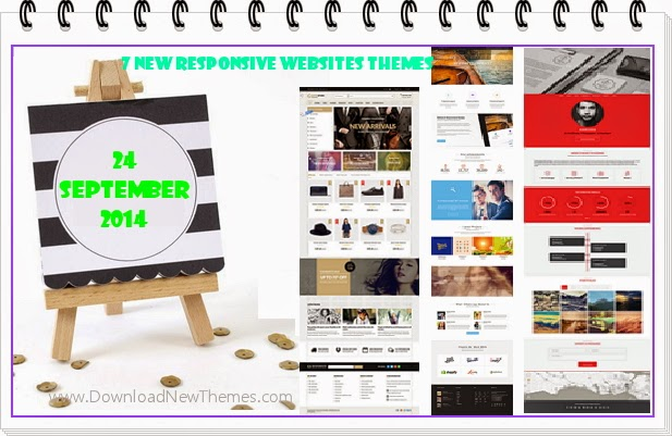 7 New Responsive Websites Tempalate