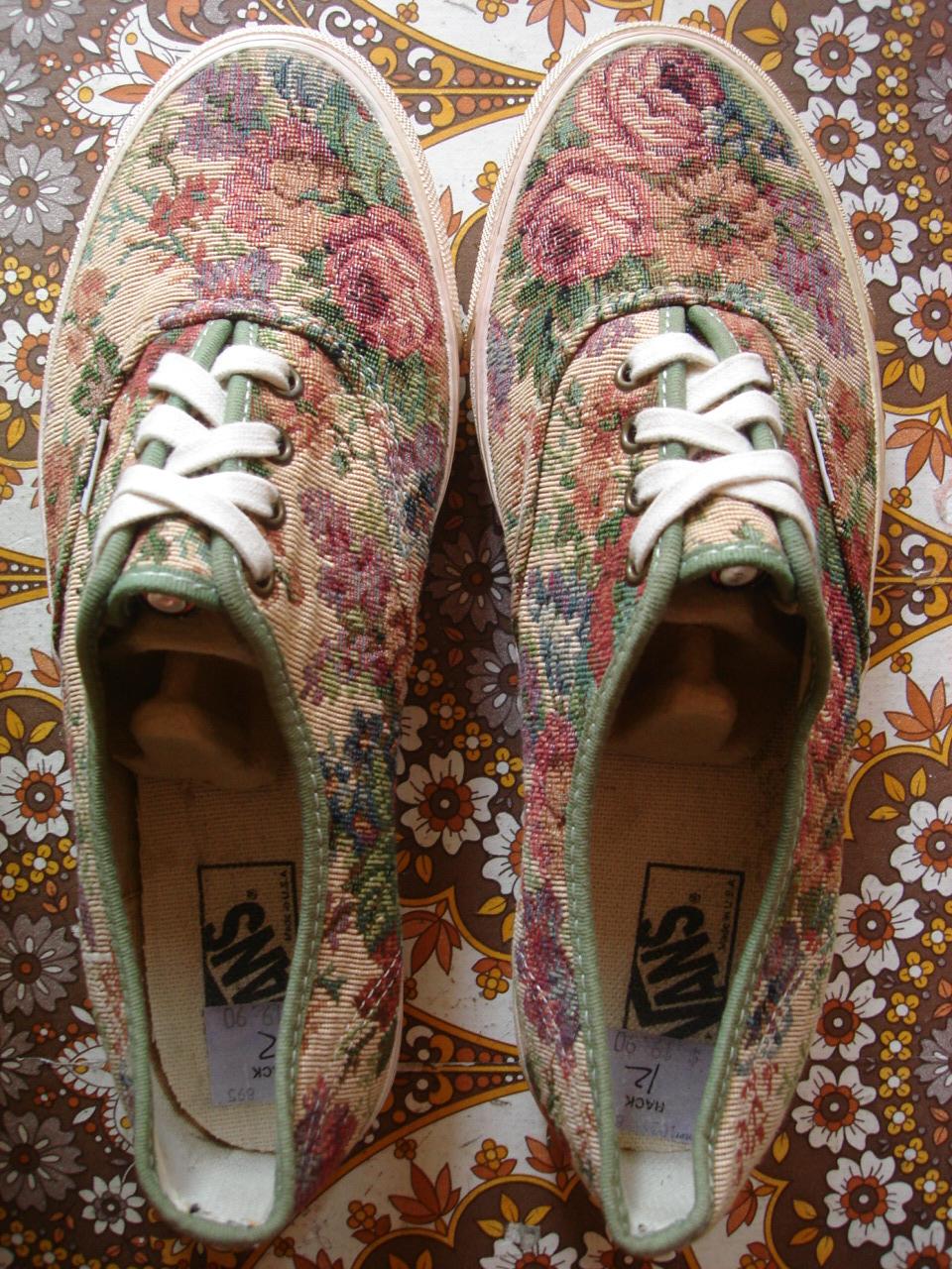 theothersideofthepillow: vintage VANS shoes FLORAL TEA ... Vans Shoes