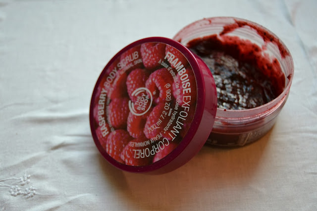 Flashback Summer: Mysterious Prune- The Body Shop raspberry body scrub