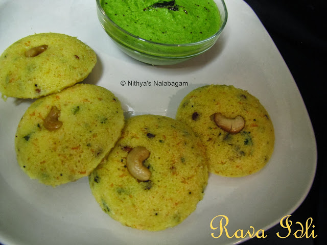 Rava Idli | Step wise pictures