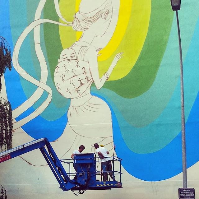 Street Art By Seth In Rennes, France For Teenage Kicks Urban Art Festival. 5