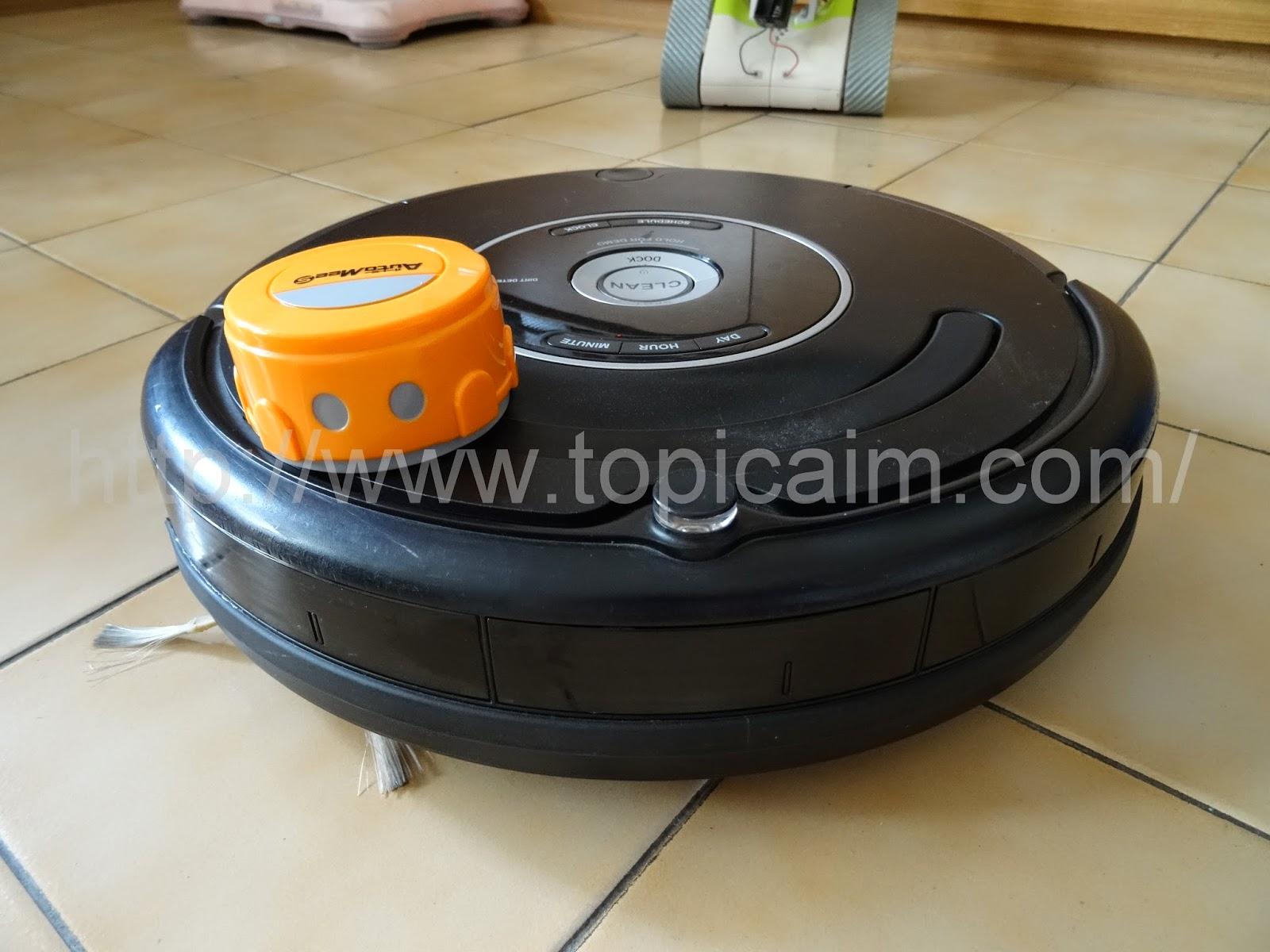 AutoMeeS和iRobot Roomba 570合照