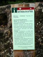 Informació a l'ermita de Sant Esteve de Cal Pallot