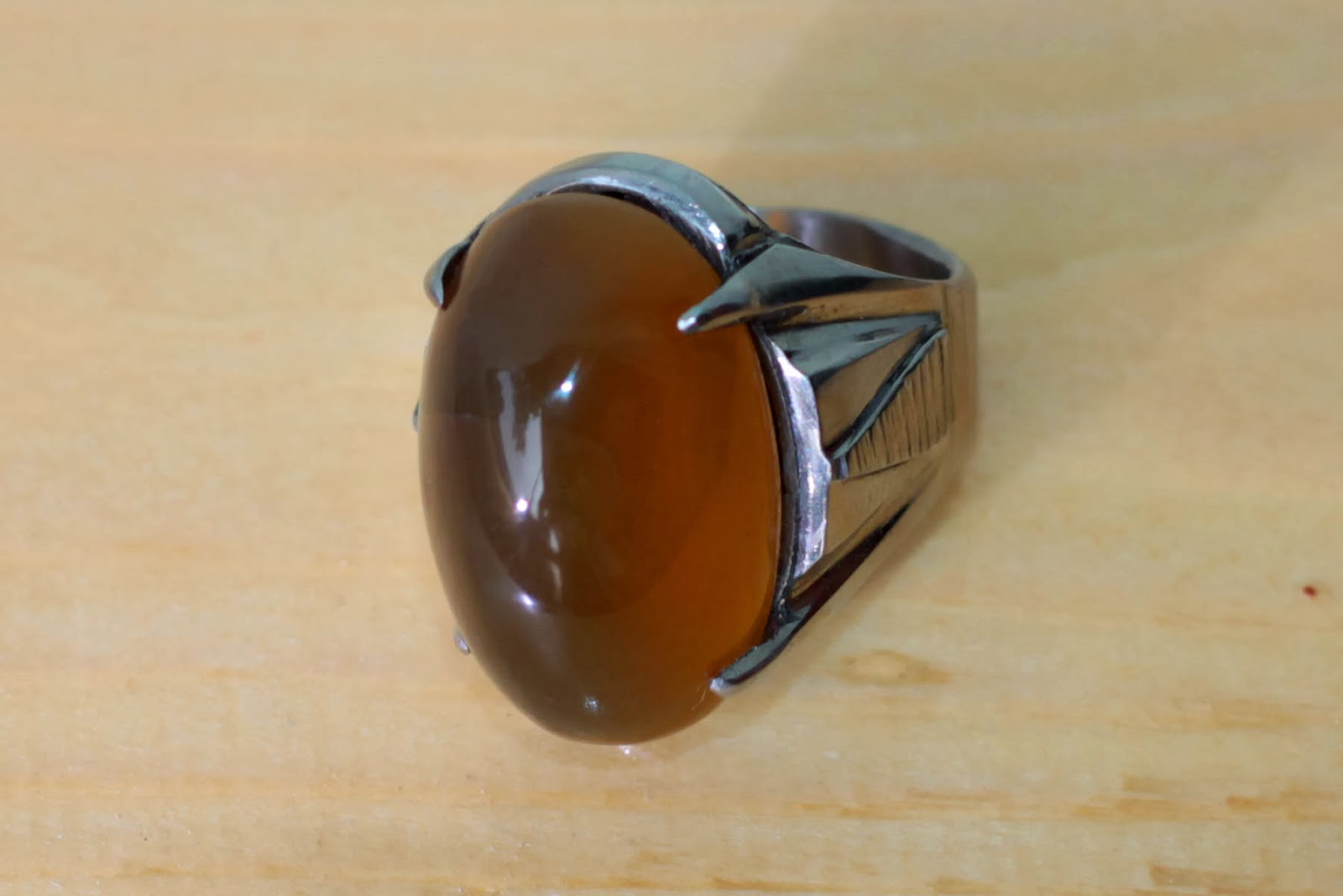 Batu Cincin Agate Akik Madu Tiger Eye Manau Natural