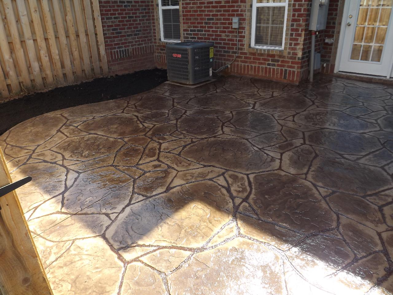 Stamped Concrete Patio Flagstone, Winston Salem