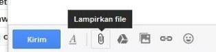 Cara melampirkan file pada email
