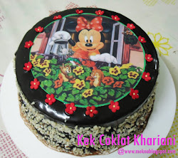Kek Coklat with Edible Image