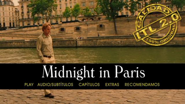 Capturas Medianoche en Paris [Midnight in Paris] 2011 [DVDR Menu Full] Español Latino [ISO] NTSC