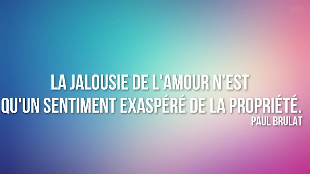 citation sur la  jalousie