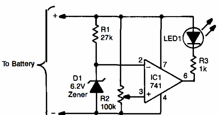 low battery indicator circuit diagram
