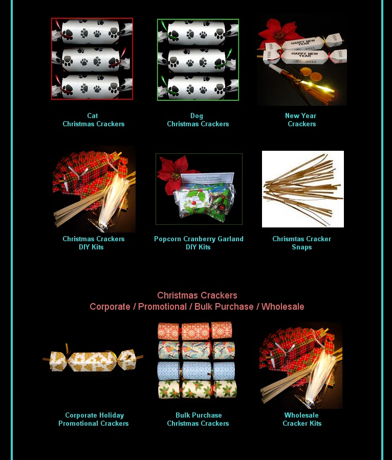The 2014 Christmas Crackers Line-Up Page for GillianCrackers is ready for viewing!