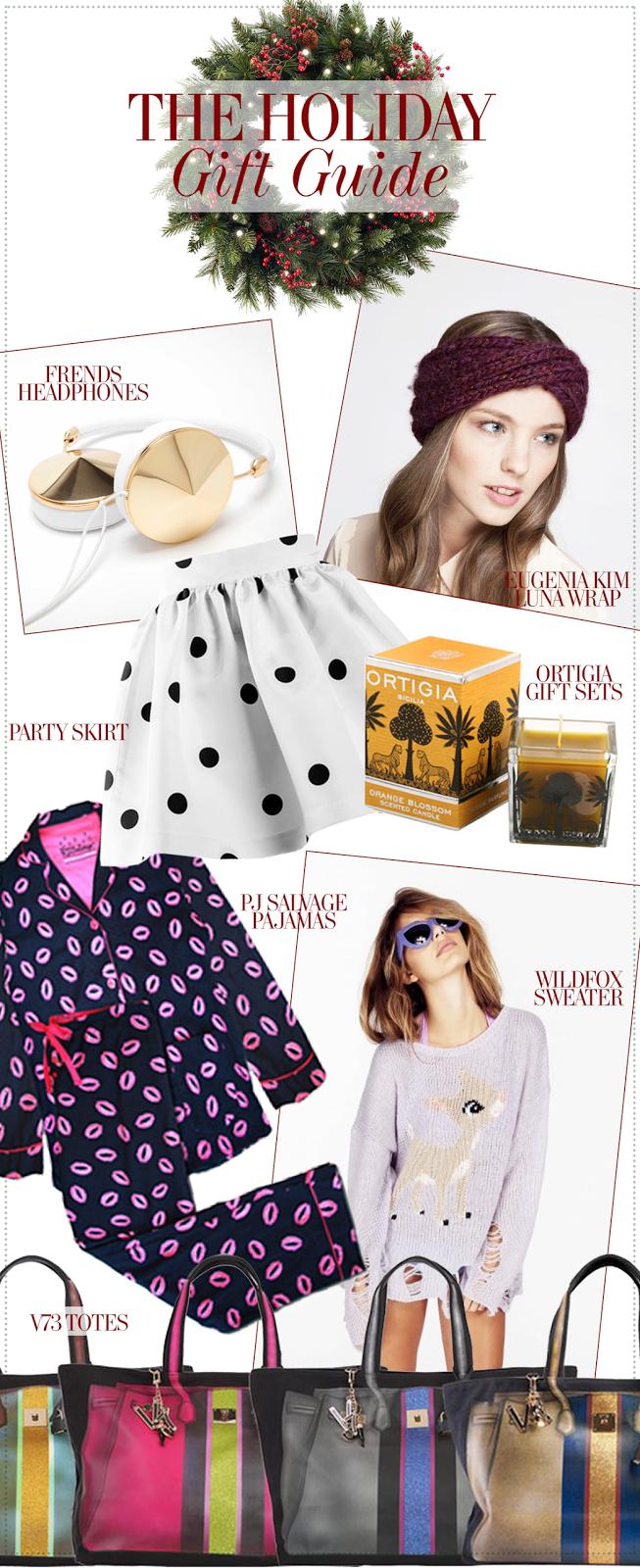 Party Skirts PJ Salvage Wildfox V73 Ortigia Eugenia Kim Teen Vogue Holiday Gift Buying Vancouver