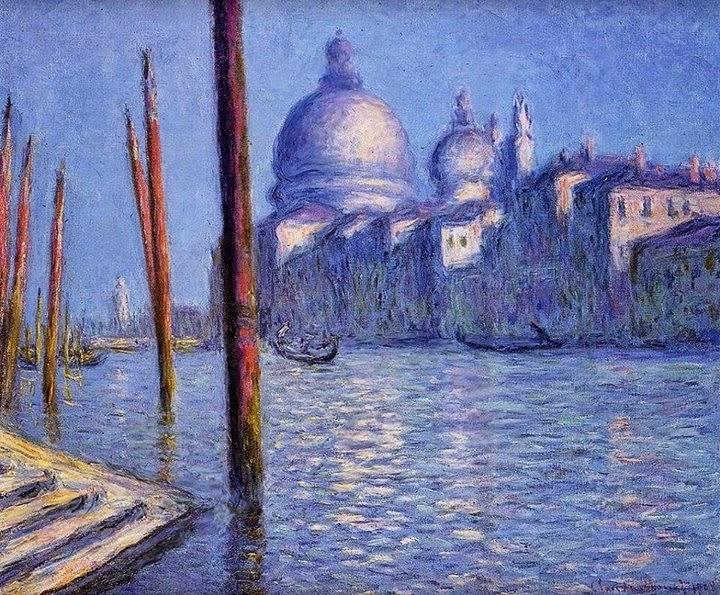 Claude Monet Santa Maria della salute et le grand canal, Venise. 1908