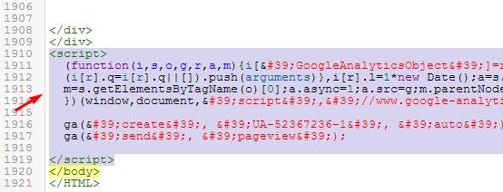 Memasang Kode Pelacakan Google Analitycs
