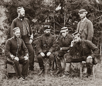 Brtish Officers posed for photo, summer 1862
