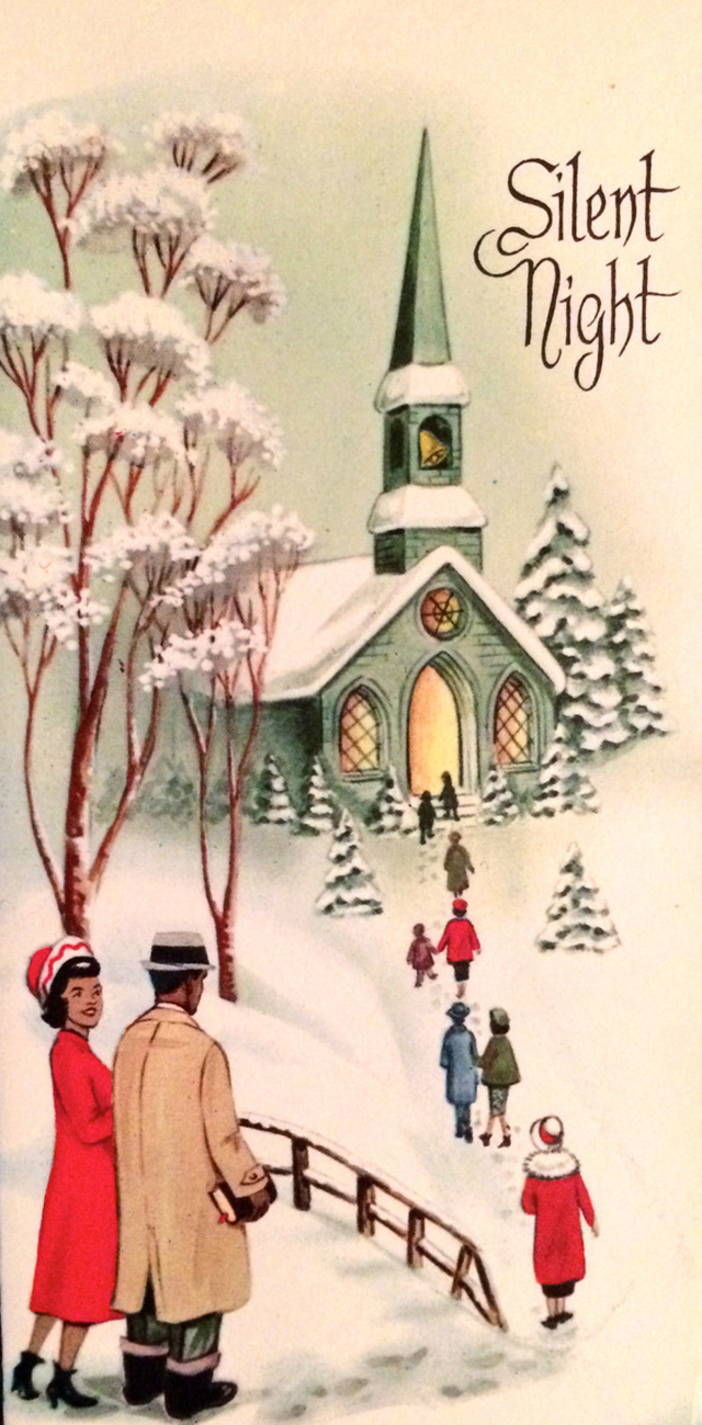 These festive african american christmas greeting cards from the created by companies like ebony classics and colortone originals inc these holiday cards from the 1950s and 60 are wonderful kristyandbryce Image collections