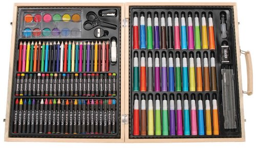 darice artyfacts portable studio with 131 pieces inside it is certainly an awesome choice of adult coloring kit