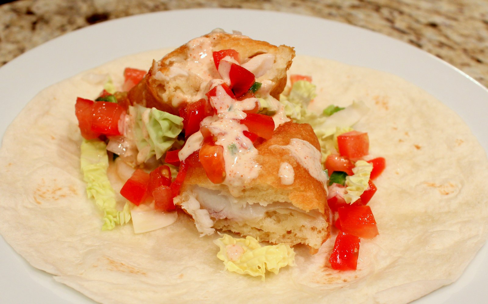 Dinner delish tilapia fish tacos for Tilapia fish tacos