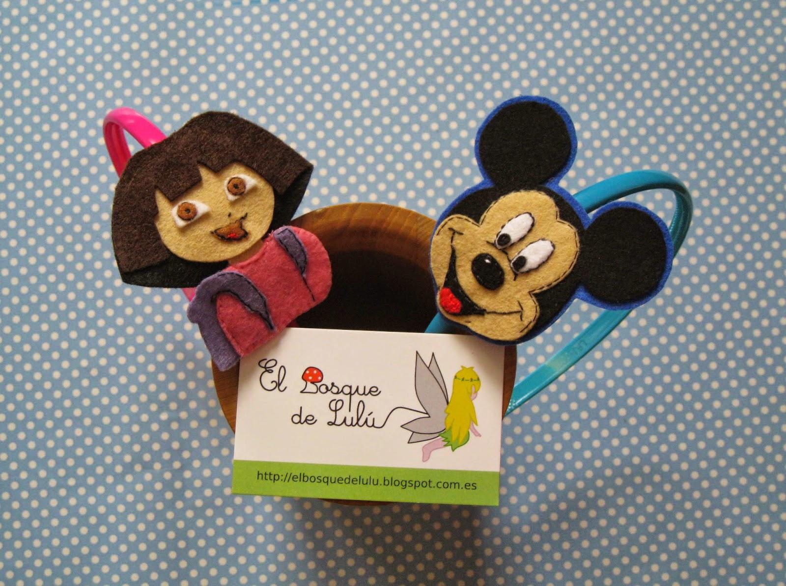 diadema-fieltro-Dora-exploradora-Mickey-Mouse