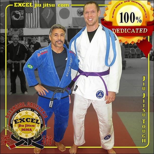 Brazilian Jiu Jitsu Purple Belt promotion with Jonathan Cobb with BJJ Black Belt Michio Grubbs