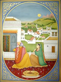 Miniatura stile di pittura minuscola di origine orientale