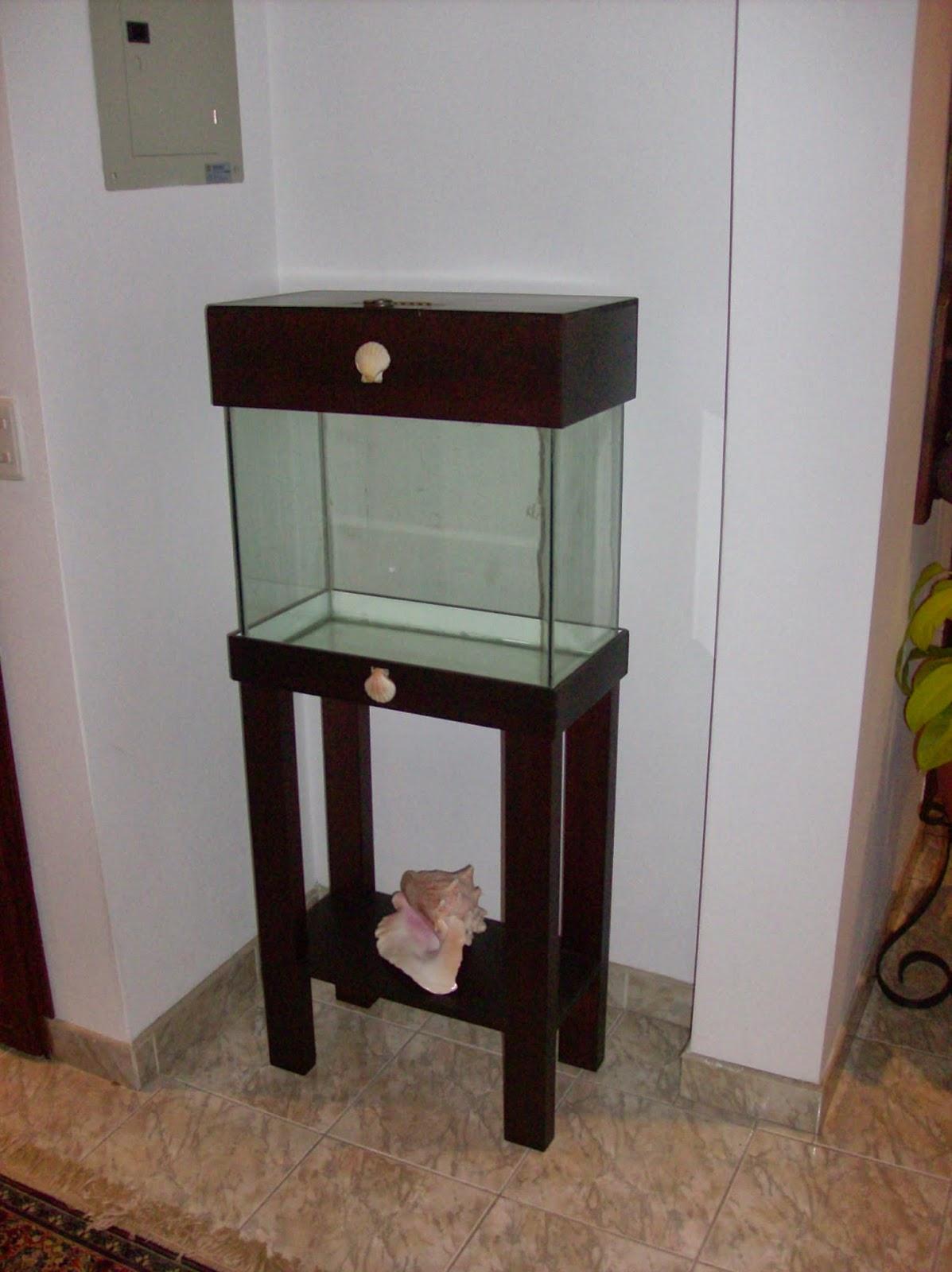 El taller del burro diy mueble para acuario de 51x26 for Mueble acuario