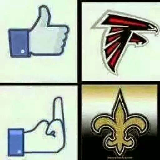 Falcons like, Saints Fuck
