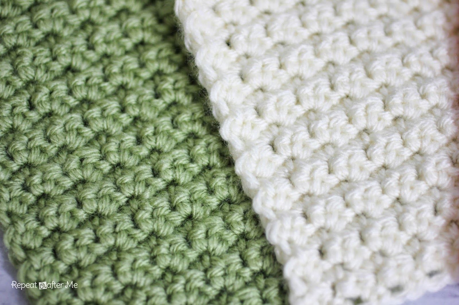 Crochet Stitches Grit : Repeat Crafter Me: Solid Granny Square Crochet Pattern (Grit Stitch)