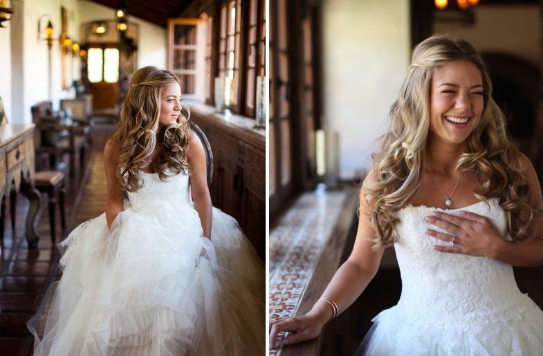 Свадебные прически на средние волосы с фатой распущенные волосы