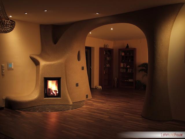 Дизайн с аркой для соломенного дома.