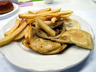 Pierogi Dinner with French Fries