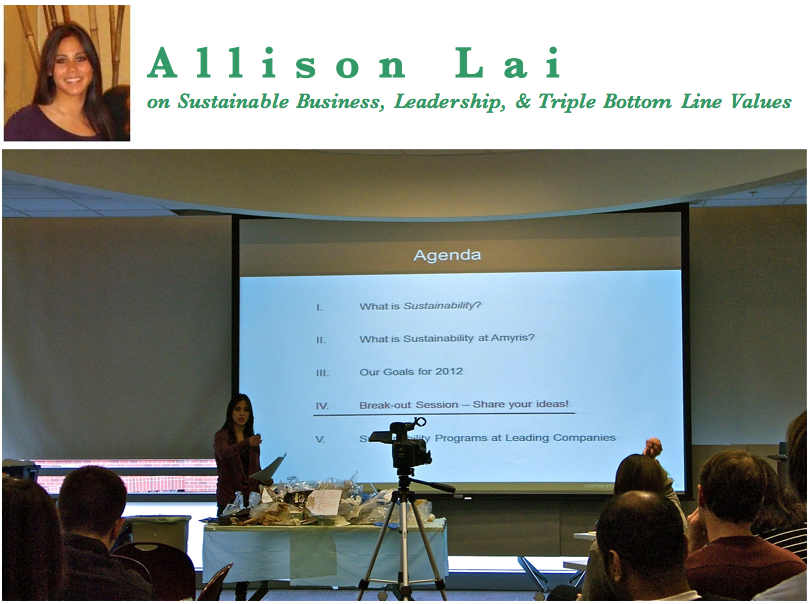 Allison Lai on Sustainable Business, Leadership, and Triple Bottom Line Values