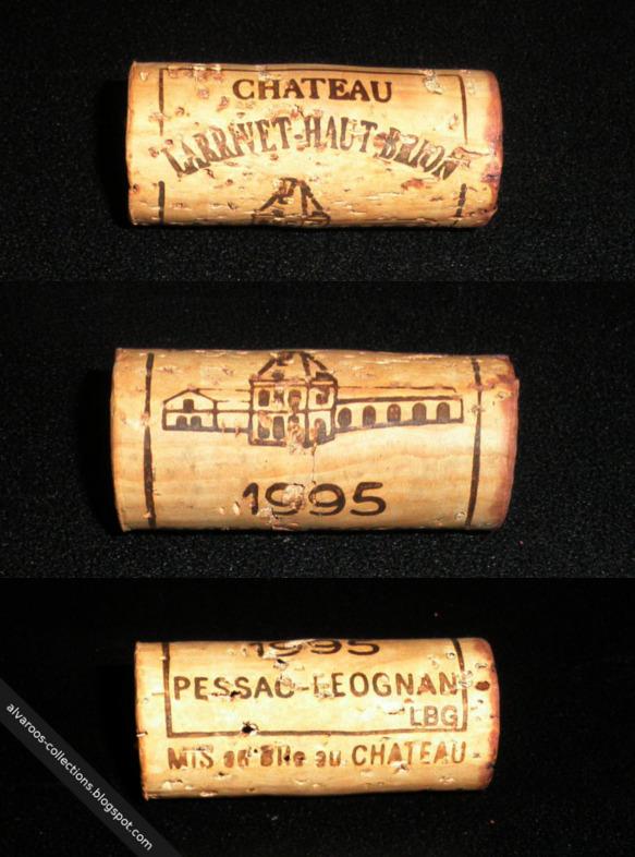 Wine cork: Chateau Larrivet - Haut Brion, Pessac Leognan 1995