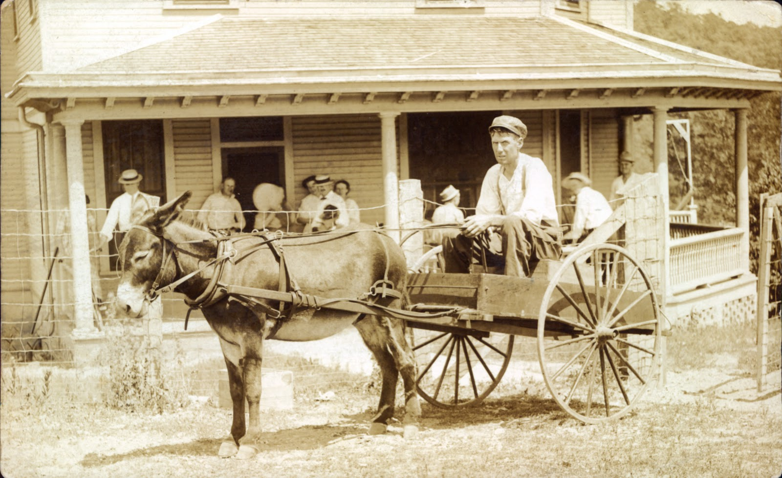 Illinois vermilion county fairmount - The Card Was Addressed To Eli Runyan In Danville Illinois Eli Was Married To Dora Jane Allman Eli Allman S Sister