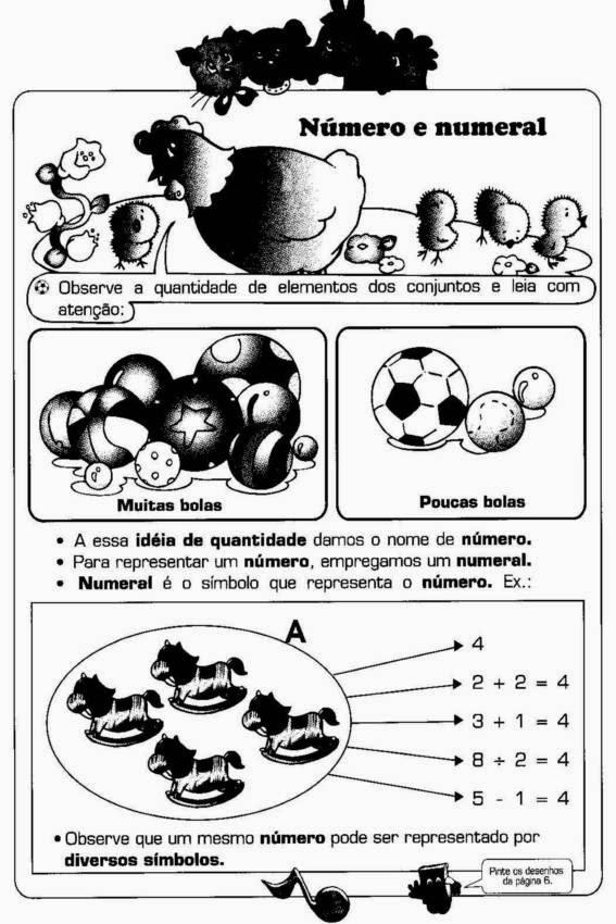 Conteúdos matemática 1 ano ensino fundamental